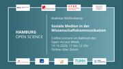 Coffee Lecture: Soziale Medien in der Wissenschaftskommunikation