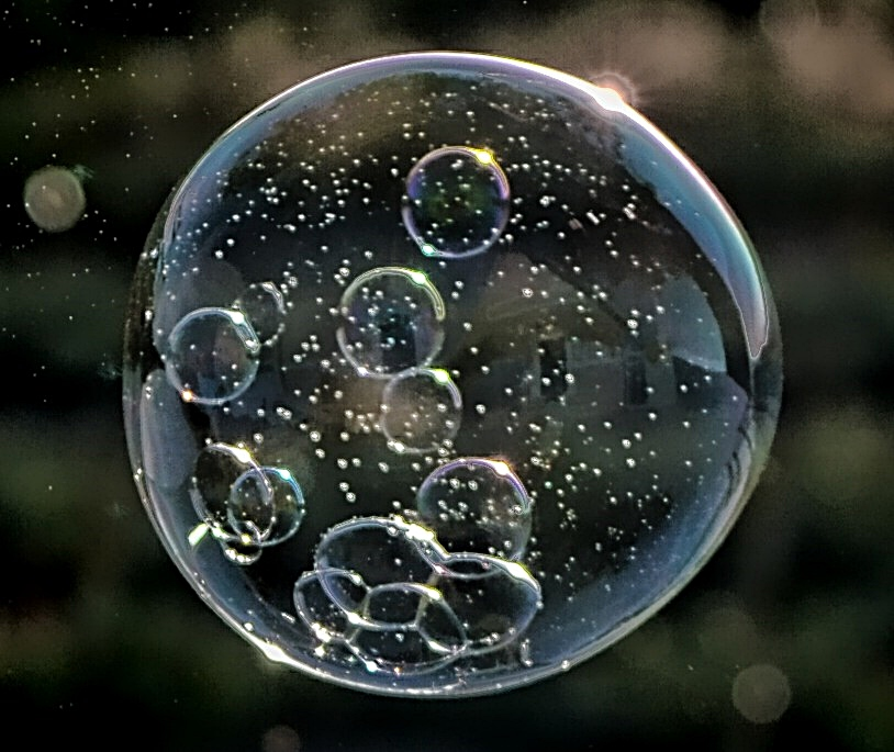 Bubbles within a bubble