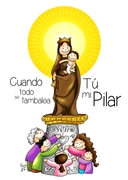 Virgen del Pilar color CORONA texto