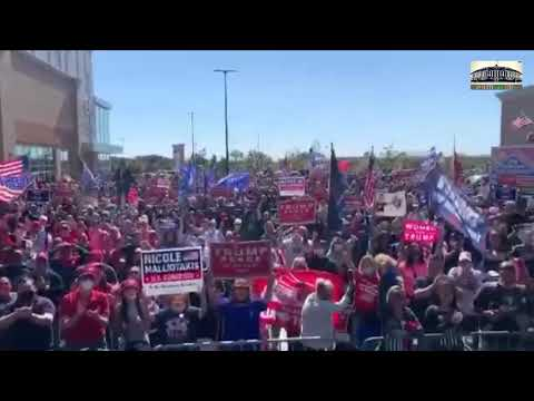 "A MASSIVE crowd sending ""get well soon!"" wishes to President Donald Trump."