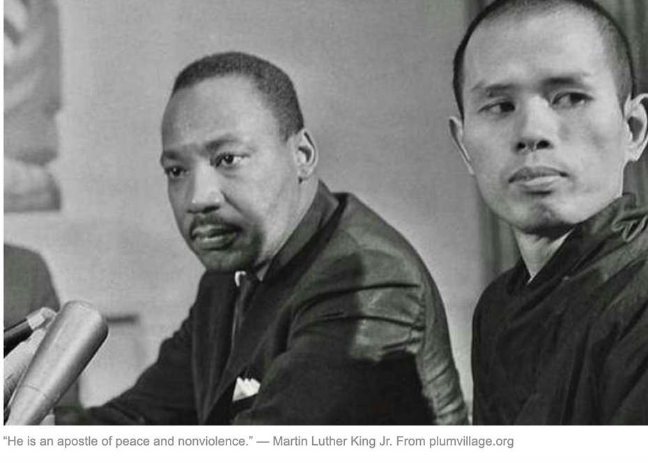 Thich Nhat Hanh with Martin Luther King.