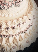Lambeth cake close up