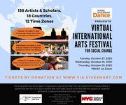 MDD's Virtual International Arts (VIA) Festival for Social Change