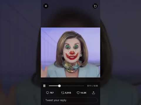 Drunk Clown Nancy Pelosi Lecturing People About Wearing Mask