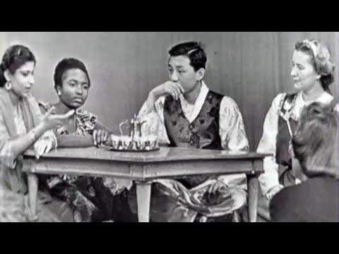 1955 High School Exchange Students from Korea, Finland, Pakistan and Nigeria discuss American Teens
