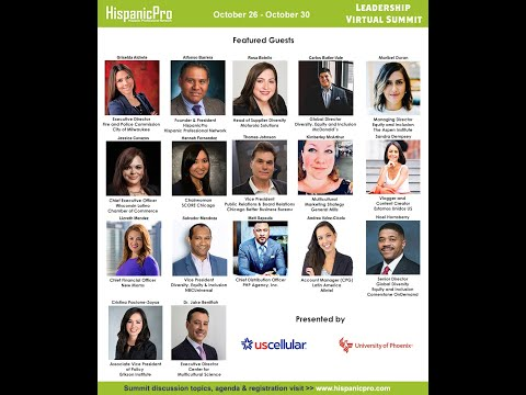 Personal invite to the HispanicPro Leadership Virtual Summit October 26 - October 30, 2020
