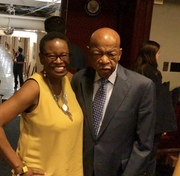 On Capitol Hill with Congressman John Lewis