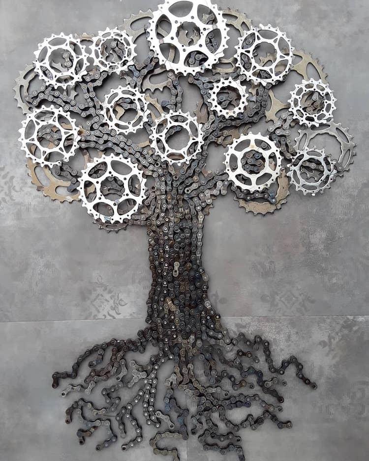 ველოსიპედი, ხელოვნება, არტი, რკინა-კავეული, ბლოგი, Qwelly, სკულპტურა