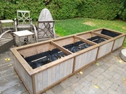Raised Bed planter Box from dining area
