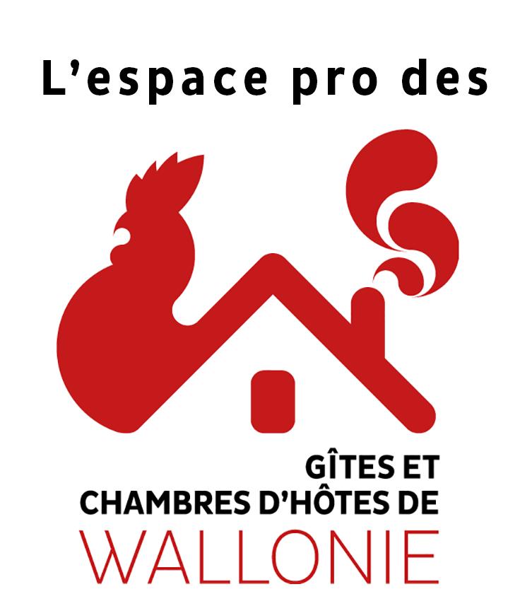 L'espace pro des Gîtes et Chambres d'hôtes de Wallonie Logo