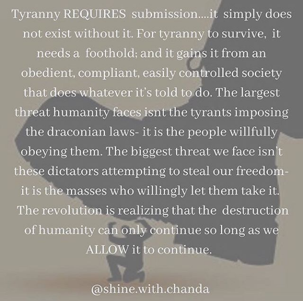 Tyranny Requires Submission