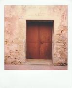Vecchia porta di ferro