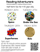 Half-term storytime, storywriting and nature activities