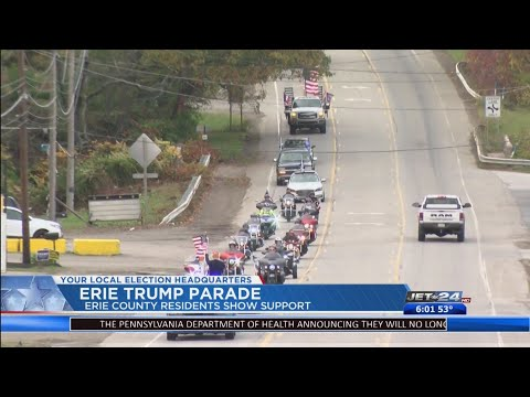 Local Trump supporters hold parade in Erie County to show support for President Trump