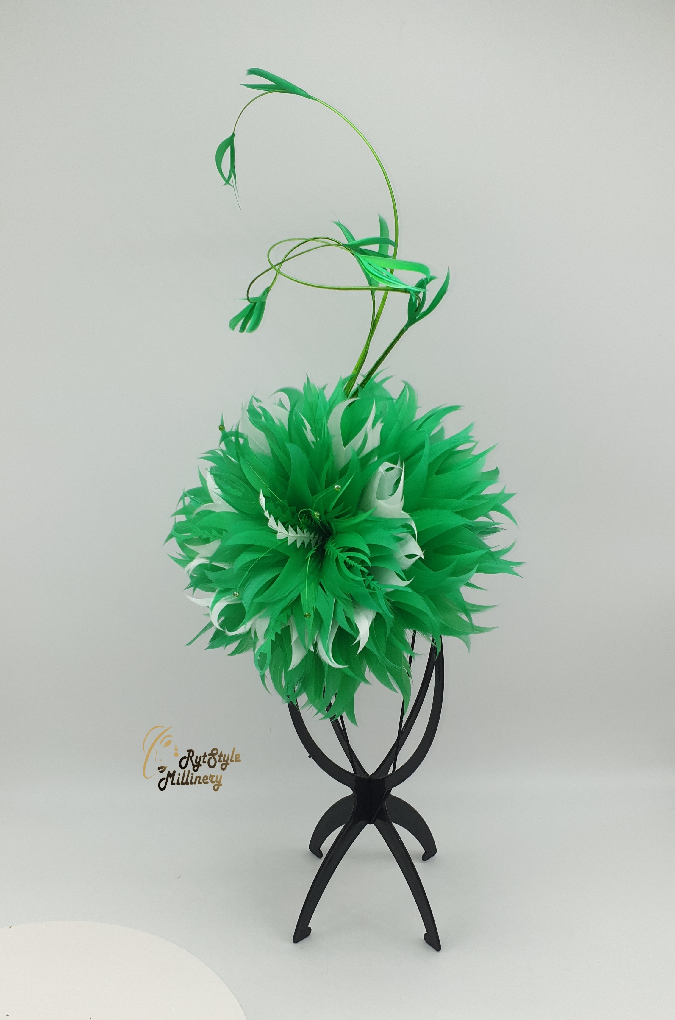 FEATHERED FLOWER HAT WITH QUILLS