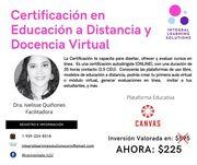 Certificación en Educacion a Distancia y Docencia Virtual