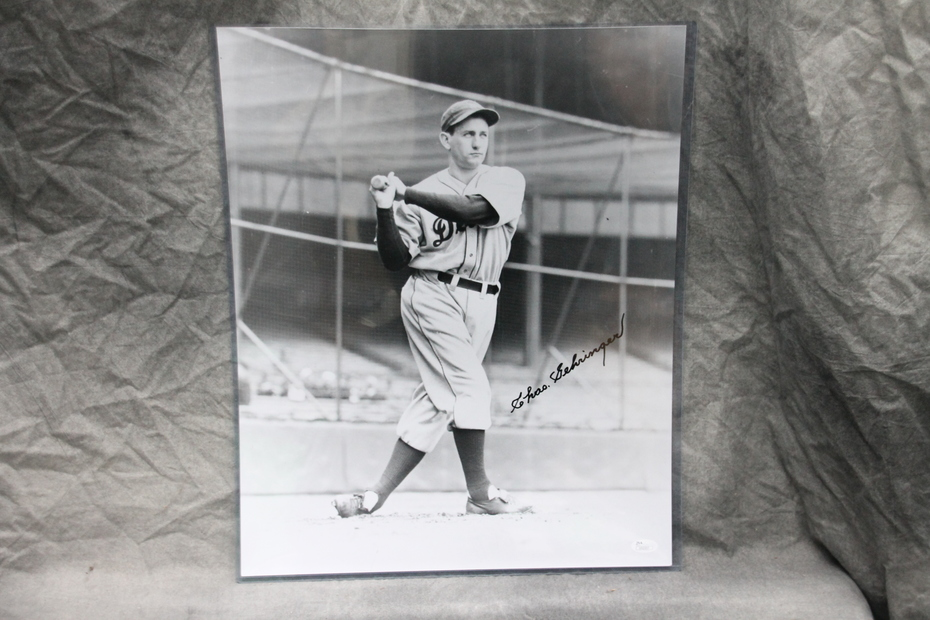 Signed Charlie Gehringer 16x20 Photo