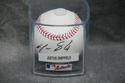 Signed Justus Sheffield Baseball