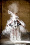 Ballerina with flour 2
