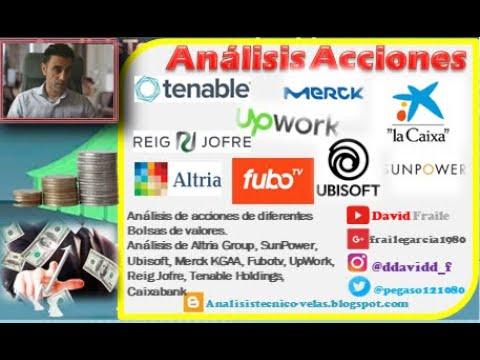 Video Análisis con David Fraile: Caixabank, Reig Jofre, Altria, SunPower, Ubisoft, Merck, Fubotv, UpWork y Tenable Holdings