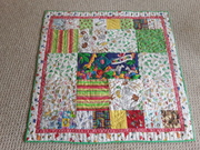 Critter quilt , top made by 9 yr. old Layla