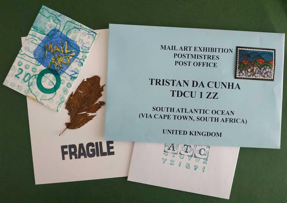 Tristan Da Cunha Mail Art Exhibition.