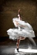 Ballerina with flour 3