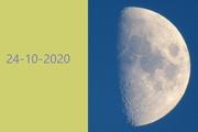 la Luna dall'Italia