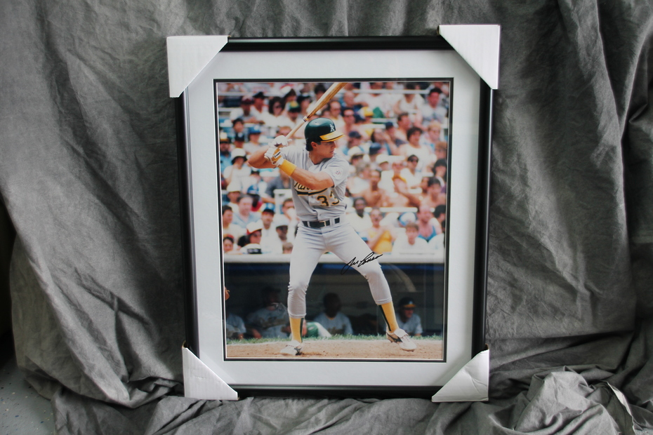 Framed Signed Jose Canseco 16x20 Photo