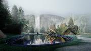 Mountain Gridshell Pavilion