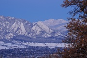 Snowy dawn over Boulder after storm