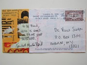 Mail art by Kendall Martin Reid (St. Petersburg, Florida, USA)