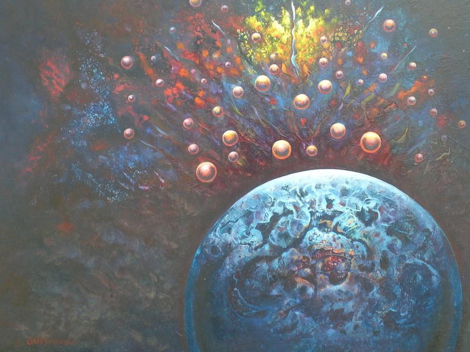 La naissance du monde, huile, 50 x 60