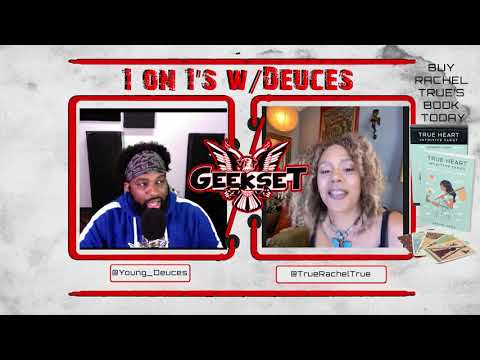 Rachel True discusses her book, tarot , energy,  acting & more! | Sn 2 Ep. 11| 1 on 1's w/Deuces