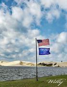 Beautiful flags in a beautiful place. Silver Lake Michigan