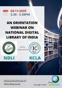 Webinar on NDLI (National Digital Library of India)