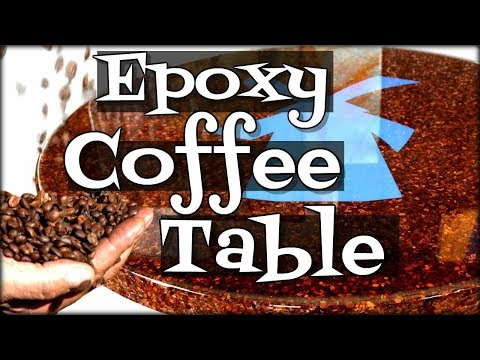 Epoxy Coffee Table Made From Beans