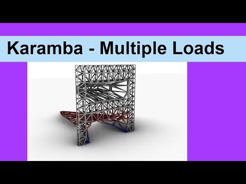 Karamba Multiple Loads
