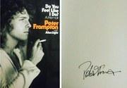 """Peter Frampton """"Do You Feel Like I Do?"""" signed memoir"""