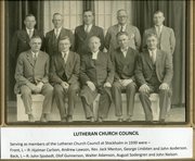 Hjalmar Carlson - 1930 Luthern Church Council