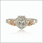 Edwardian Claddagh Engagement Ring