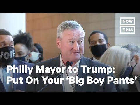 Philadelphia Mayor Tells Trump to 'Put Big Boy Pants On'   NowThis