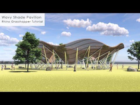 Wavy Shade Pavilion Rhino Grasshopper Tutorial