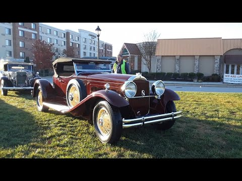 Pre War Cars Driving In Packard,LaSalle,Studebaker,Ford and Buick 2020 AACA Special Fall Nat Video 6