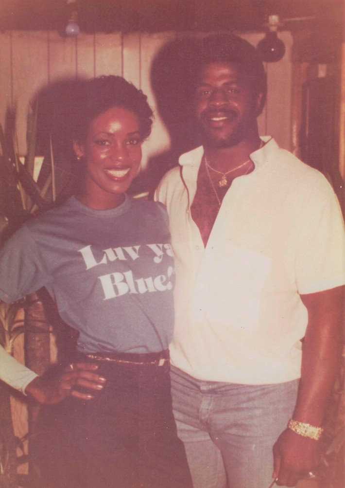 Joyce A. Mikle with the GREAT Earl Campbell - Houston Oilers Derrick Doll Cheerleader 79-80