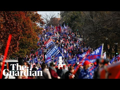 Million Maga March: Trump supporters protest in Washington