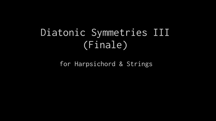 Diatonic Symmetries III (Finale) by Geert ter Horst