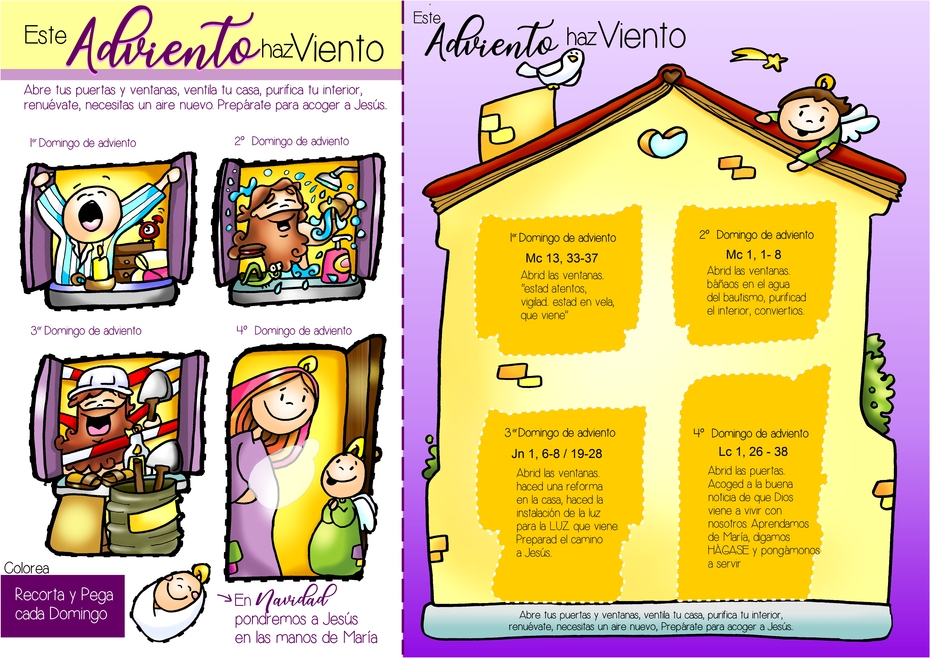 ficha A3 color casa adviento