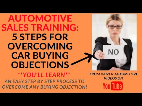 AUTO SALES TRAINING: 5 Steps For Overcoming Car Buying Objections- It Helps You Close More Car Deals