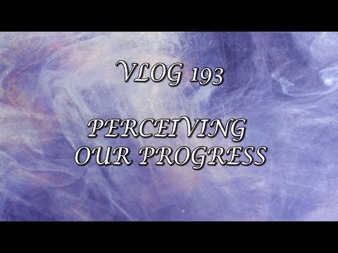 VLOG 193 - PERCEIVING OUR PROGRESS